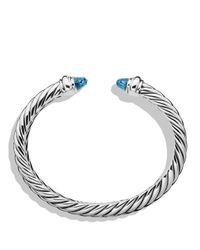 David Yurman | Metallic Waverly Bracelet With Blue Topaz | Lyst