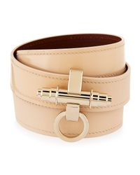 Givenchy | Natural Obsedia Triple-Wrap Leather Bracelet | Lyst