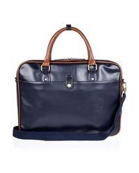 River Island - Blue Navy Smart Work Bag for Men - Lyst