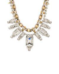 Joomi Lim - Multicolor Baroque Crystal Spike Necklace in Metallic Silver - Lyst