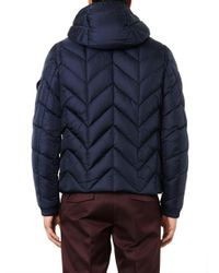 Moncler - Blue Berriat Chevron Down-Filled Jacket for Men - Lyst