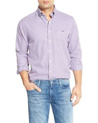 Vineyard Vines - Pink 'bayroad' Slim Fit Gingham Sport Shirt for Men - Lyst