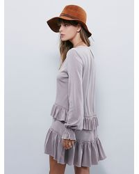 Free People | Gray Fp Beach Womens Midsummer Night Dress | Lyst