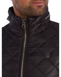 G-Star RAW - Black Meefic Quilted Lightweight Bomber Jacket for Men - Lyst