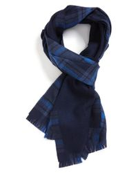 Ermenegildo Zegna | Blue Fan Scarf for Men | Lyst