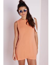 Missguided - Low Armhole Jersey Shift Dress Orange - Lyst