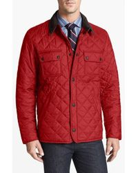 Barbour | Red 'tinford' Regular Fit Quilted Jacket for Men | Lyst