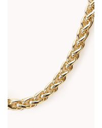 Forever 21 - Metallic Posh Woven Chain Necklace - Lyst