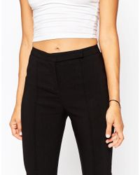 ASOS | Black Tall High Waist Trouser In Skinny Fit | Lyst