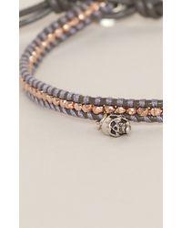 Chan Luu | Metallic Bracelet W/ Beads & Skull | Lyst