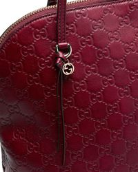 Gucci - Red Bree Ssima Leather Top Handle Bag - Lyst