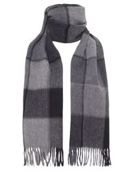 Ascot Accessories - Gray Wool Check Scarf for Men - Lyst