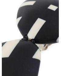 Monies | Black Checked Pendant Earrings | Lyst