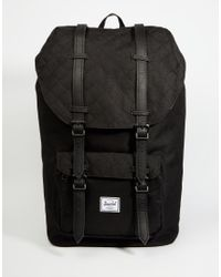 Herschel Supply Co. | Black Little America Quilted Backpack 23l for Men | Lyst