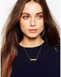 Stella & Bow | Metallic Emma Bar Necklace | Lyst