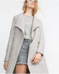 Zara | Gray Wool Coat | Lyst