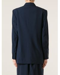 Burberry - Blue Oversize Blazer - Lyst