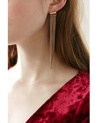 Urban Outfitters - Metallic Sylvia Chain Front/back Earring - Lyst