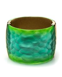 Alexis Bittar | Green Crocodile Textured Lucite Hinge Bracelet You Might Also Like | Lyst
