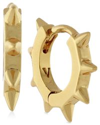 Vince Camuto | Metallic Gold-tone Spike Hoop Earrings | Lyst