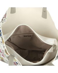 David Jones - White Poppy Womens Reversible Casual Shoulder Bag - Lyst