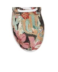 Lotus - Black Meadow Floral Print Lace Up Trainers - Lyst