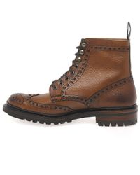 Cheaney Brown Tweed Mens Formal Lace Up Boots for men