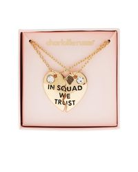 Charlotte Russe - Metallic In Squad We Trust Pendant Necklaces - 2 Pack - Lyst