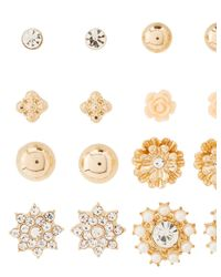 Charlotte Russe - Metallic Embellished Stud Earrings -12 Pack - Lyst