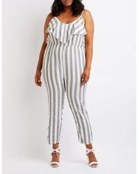 5ae7a78a32b Charlotte Russe. Women s Plus Size Striped Jumpsuit