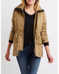e32351c57bc Charlotte Russe. Women s Anorak Hooded Sherpa Jacket
