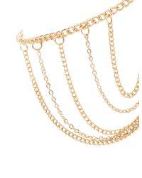 Charlotte Russe - Metallic Embellished Toe Rings & Anklet Set - Lyst
