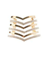 Charlotte Russe - Metallic Plus Size Caged Cuff Bracelet - Lyst