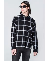 Cheap Monday | Black Squared Flannel Check Shirt for Men | Lyst