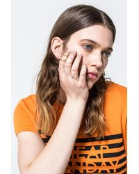 Cheap Monday - Metallic Outline Rings - Lyst