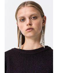 Cheap Monday - Metallic Metal Mesh Earrings - Lyst