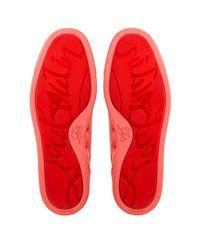 Christian Louboutin - Red Louis Junior Orlato Men's Flat for Men - Lyst