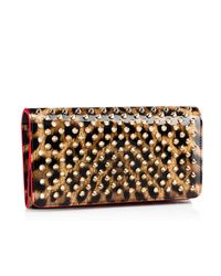 Christian Louboutin - Brown Macaron Continental Wallet With Flap - Lyst