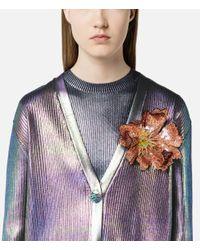Christopher Kane - Multicolor Sequin Flower Brooch - Lyst