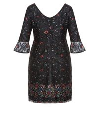 City Chic - Black Floral Fields Dress - Lyst