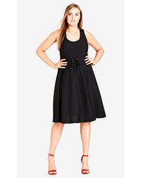 City Chic - Black Cute Midi Dress - Lyst