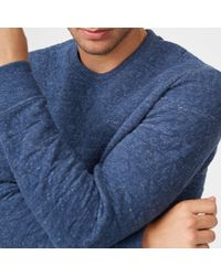 Club Monaco - Blue Quilted Crew for Men - Lyst