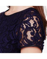 Club Monaco - Blue Witherbee Lace Dress - Lyst
