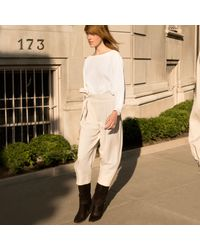 Club Monaco | White Domme Cropped Trouser | Lyst