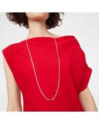 Club Monaco - White Long Chain Necklace - Lyst