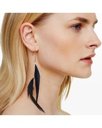 Club Monaco - Blue Feather Earring - Lyst