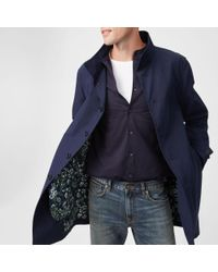 Club Monaco - Blue Mac Jacket for Men - Lyst