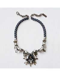 Rada' - Black Ribbon Necklace - Lyst