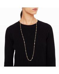 Club Monaco - Metallic Bezel Sparkle Necklace - Lyst