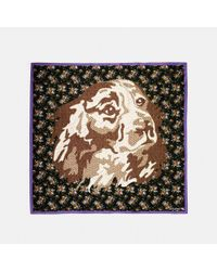 COACH - Multicolor Dog Flower Patchwork Oversized Square - Lyst